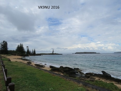 Lone Pine, Emily Bay - photo from Kingston, Norfolk Island