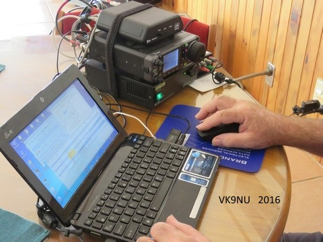 The amateur radio station on air at VK9NU, Norfolk Island